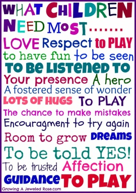 What children need most 1